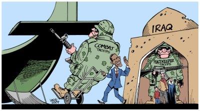 la proxima guerra eeuu retirada de irak caricatura