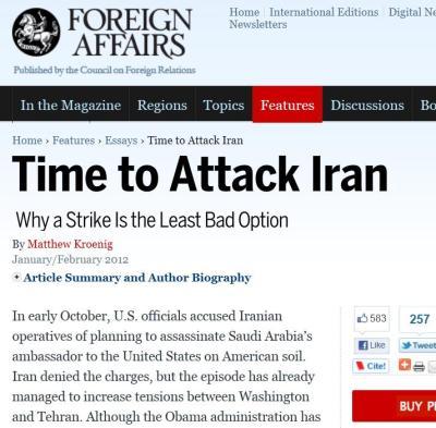 la proxima tercera guerra mundial atacar iran council on foreign relations affairs